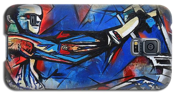 Galaxy S5 Case featuring the painting Easy Rider Captain America by Eric Dee