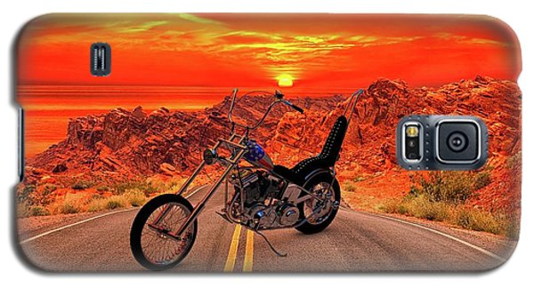 Galaxy S5 Case featuring the photograph Easy Rider Chopper by Louis Ferreira
