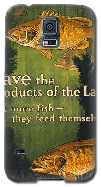 Galaxy S5 Case featuring the photograph Eat More Fish Vintage World War I Poster by John Stephens