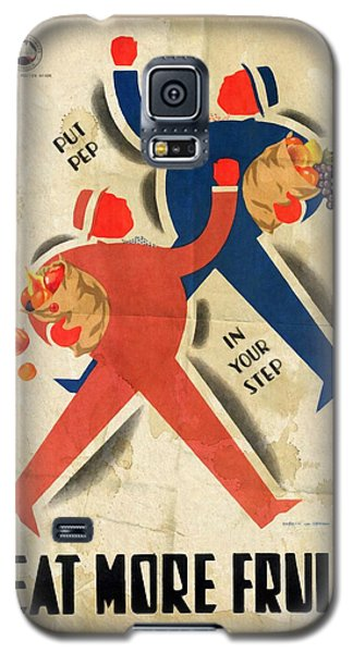 Eat More Fruit - Vintage Poster Folded Galaxy S5 Case