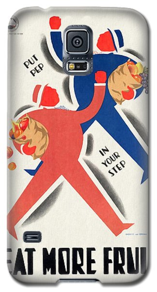 Eat More Fruit - Vintage Poster Restored Galaxy S5 Case