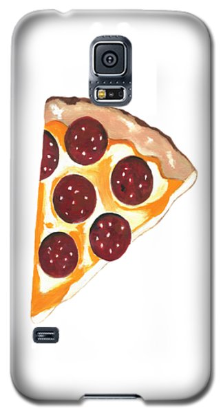 Galaxy S5 Case featuring the mixed media Eat Pizza by Kathleen Sartoris