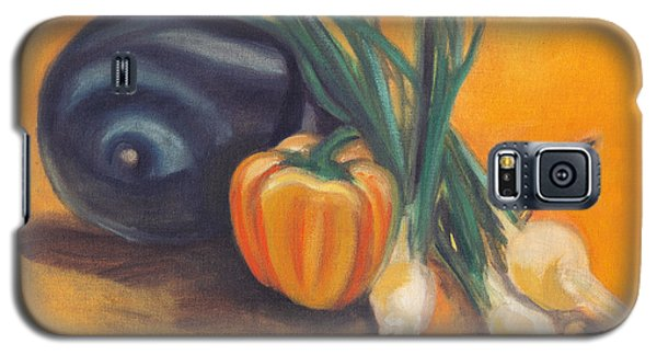 Galaxy S5 Case featuring the painting Eat Your Vegetables by Shawna Rowe