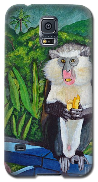 Galaxy S5 Case featuring the painting Eating A Banana by Laura Forde