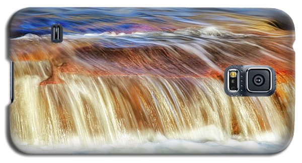 Galaxy S5 Case featuring the photograph Ebb And Flow, Noble Falls by Dave Catley