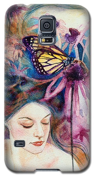 Galaxy S5 Case featuring the painting Echinacea by Ragen Mendenhall