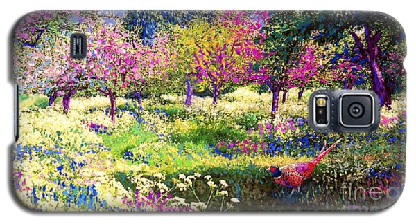 Apple Galaxy S5 Case - Echoes From Heaven, Spring Orchard Blossom And Pheasant by Jane Small