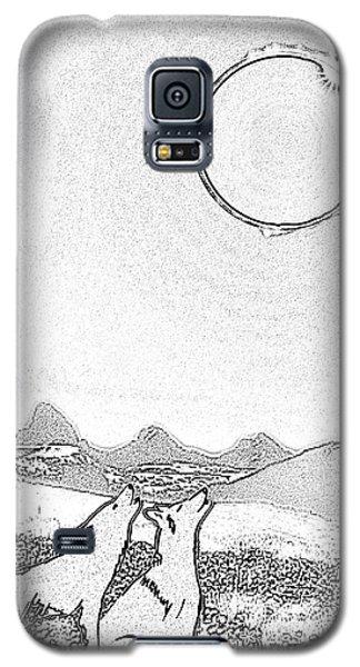 Eclipcse Graphic Pen Outline Galaxy S5 Case