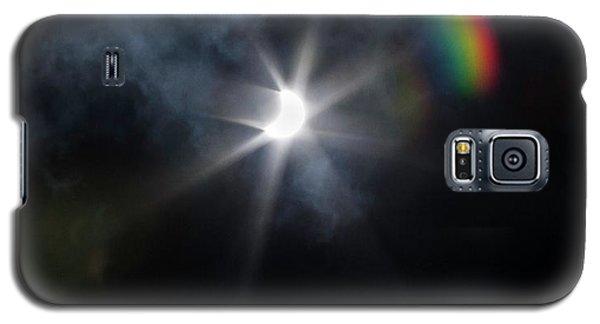 Solar Eclipse 2017 And Rainbow Galaxy S5 Case