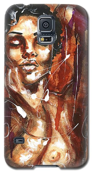 Galaxy S5 Case featuring the painting Ecstacy by Alga Washington
