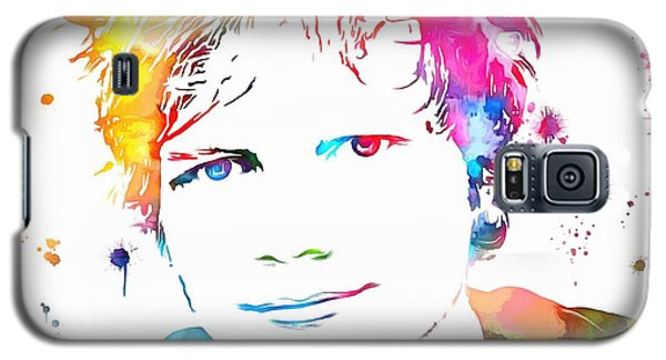 Ed Sheeran Paint Splatter Galaxy S5 Case by Dan Sproul