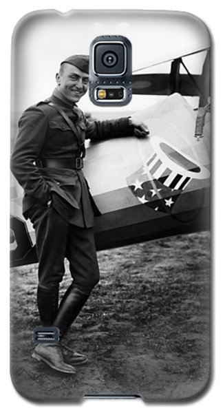 Airplane Galaxy S5 Case - Eddie Rickenbacker - Ww1 American Air Ace by War Is Hell Store