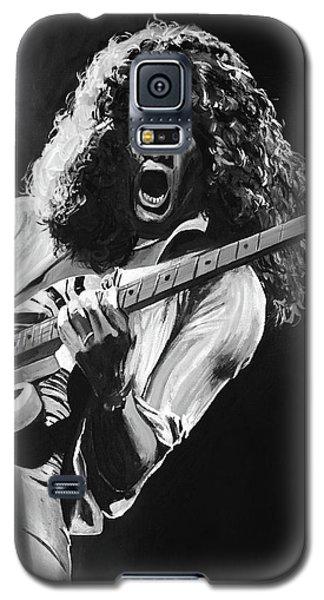 Eddie Van Halen - Black And White Galaxy S5 Case by Tom Carlton
