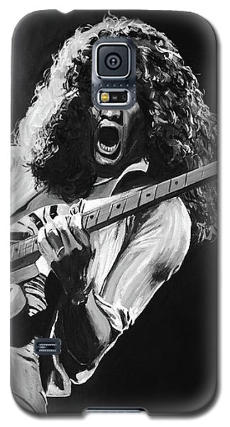 Van Halen Galaxy S5 Case - Eddie Van Halen - Black And White by Tom Carlton