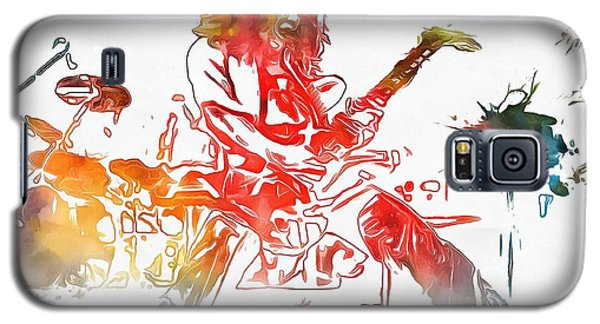 Eddie Van Halen Paint Splatter Galaxy S5 Case by Dan Sproul