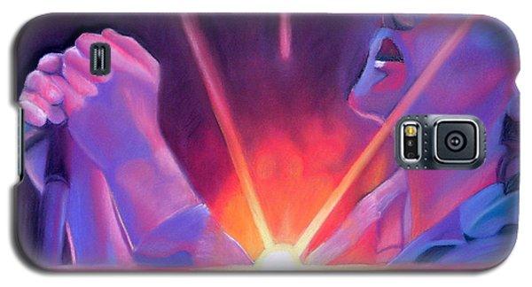Eddie Vedder And Lights Galaxy S5 Case by Joshua Morton