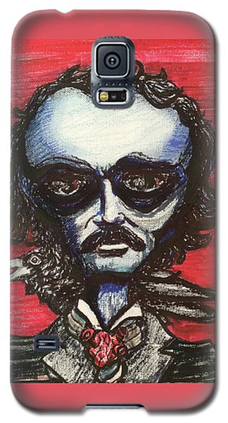 Galaxy S5 Case featuring the painting Edgar Alien Poe by Similar Alien