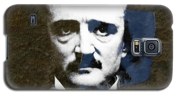 Galaxy S5 Case featuring the mixed media Edgar Allan Poe  by Paul Lovering