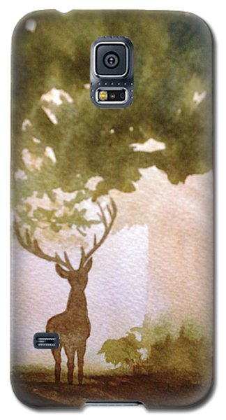 Galaxy S5 Case featuring the painting Edge Of The Forrest by Marilyn Jacobson