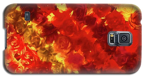 Edgy Flowers Through Glass Galaxy S5 Case