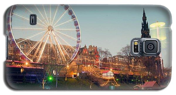 Edinburgh And The Big Wheel Galaxy S5 Case by Ray Devlin