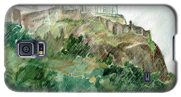 Galaxy S5 Case featuring the painting Edinburgh Castle by Andrew Gillette