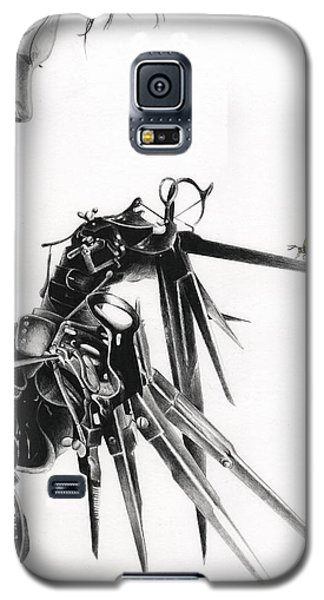 Johnny Depp Galaxy S5 Case - Edward And A Butterfly by James Holko