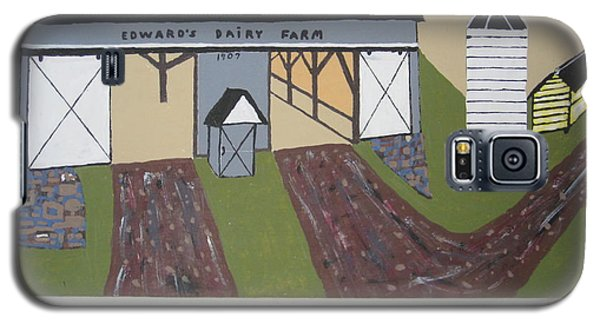 Galaxy S5 Case featuring the painting Edwards Dairy Farm by Jeffrey Koss