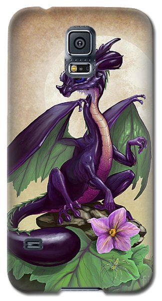 Galaxy S5 Case featuring the digital art Eggplant Dragon by Stanley Morrison