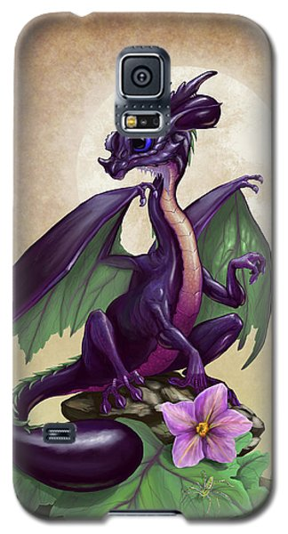 Eggplant Dragon Galaxy S5 Case