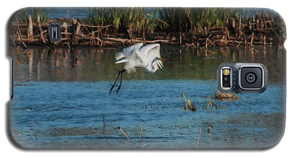 Galaxy S5 Case featuring the photograph Egret 4 by Travis Burgess