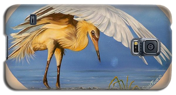 Egret Fishing Galaxy S5 Case by Sigrid Tune