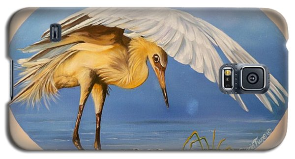 Chloe The  Flying Lamb Productions                  Egret Fishing Galaxy S5 Case