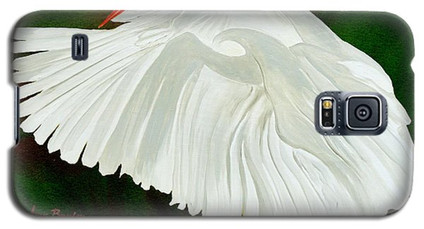 Egret In Flight Galaxy S5 Case by Anne Beverley-Stamps