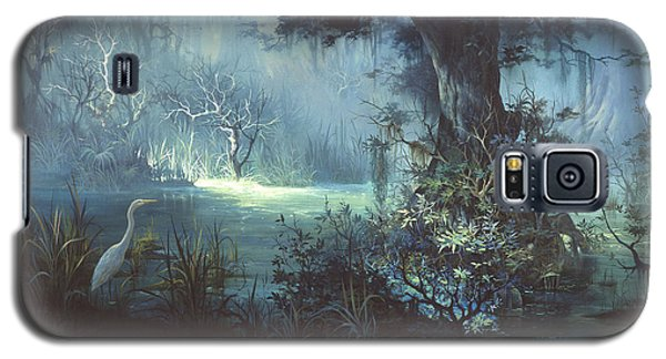 Egret Galaxy S5 Case - Egret In The Shadows by Michael Humphries