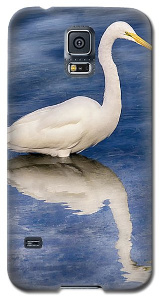 Egret Reflection On Blue Galaxy S5 Case