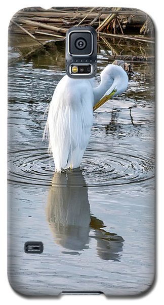 Egret Standing In A Stream Preening Galaxy S5 Case