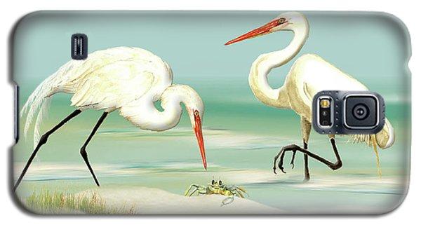 Egrets Crabbing Galaxy S5 Case
