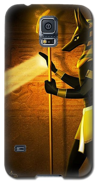 Egyptian God Anubis Galaxy S5 Case by John Wills