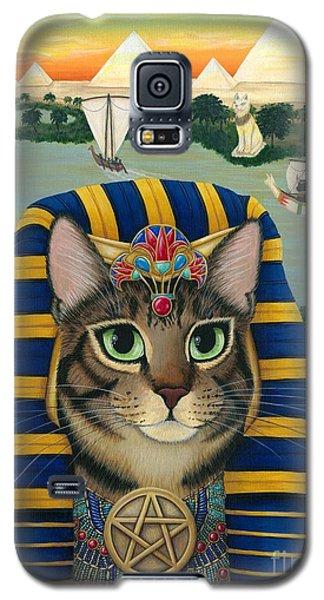 Egyptian Pharaoh Cat - King Of Pentacles Galaxy S5 Case