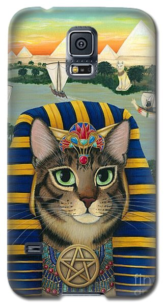 Egyptian Pharaoh Cat - King Of Pentacles Galaxy S5 Case