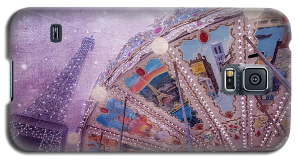 Galaxy S5 Case featuring the photograph Eiffel Tower And Carousel by Clare Bambers