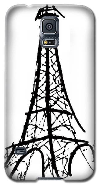 Eiffel Tower Black And White Galaxy S5 Case