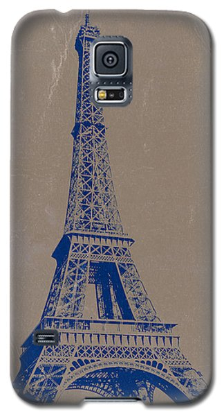 Eiffel Tower Blue Galaxy S5 Case by Naxart Studio