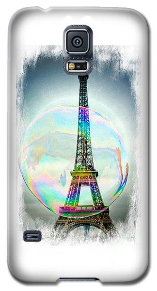 Eiffel Tower Bubble Galaxy S5 Case by Lilliana Mendez