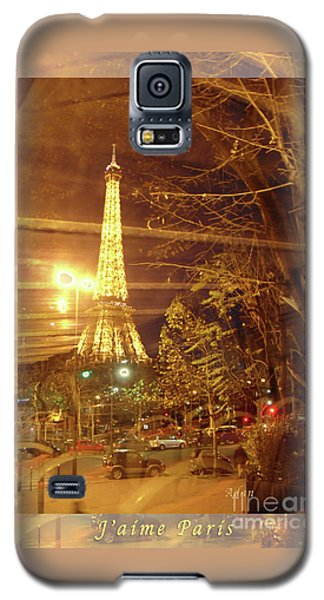 Eiffel Tower By Bus Tour Greeting Card Poster Galaxy S5 Case by Felipe Adan Lerma