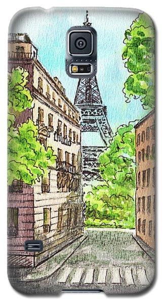 Galaxy S5 Case featuring the painting Eiffel Tower Summer Paris Day by Irina Sztukowski