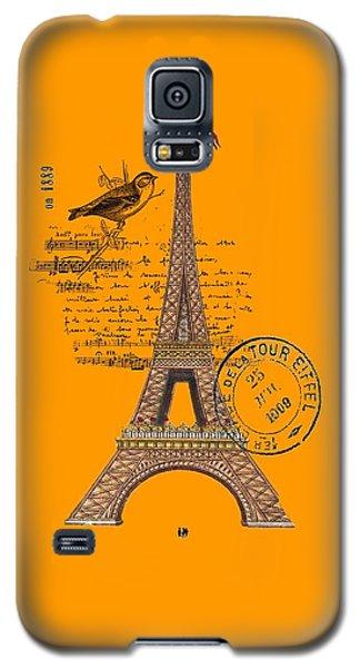 Eiffel Tower T Shirt Design Galaxy S5 Case