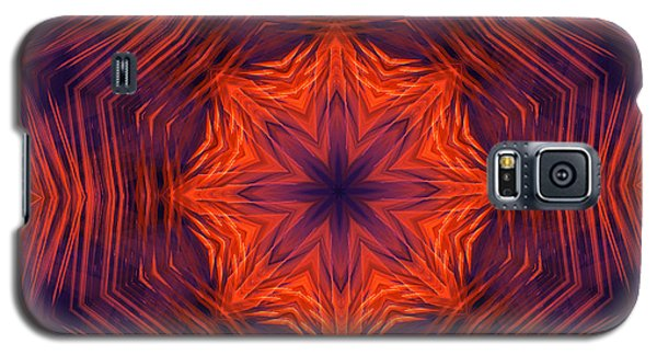 Eight Petal Orange Kaleidoscope Galaxy S5 Case