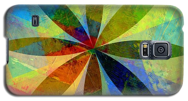 Galaxy S5 Case featuring the painting Eight Petals by Michelle Calkins